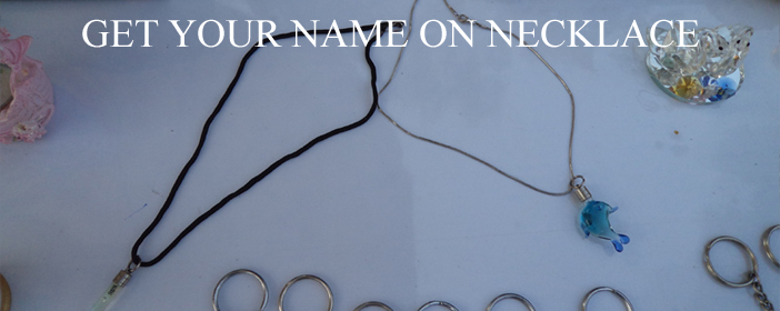 Get you name on necklace by using rice
